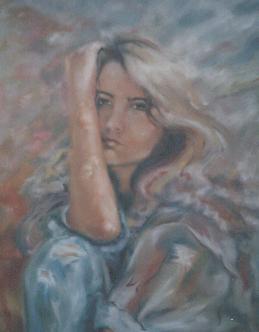 Tóth Eszter festménye Caroline